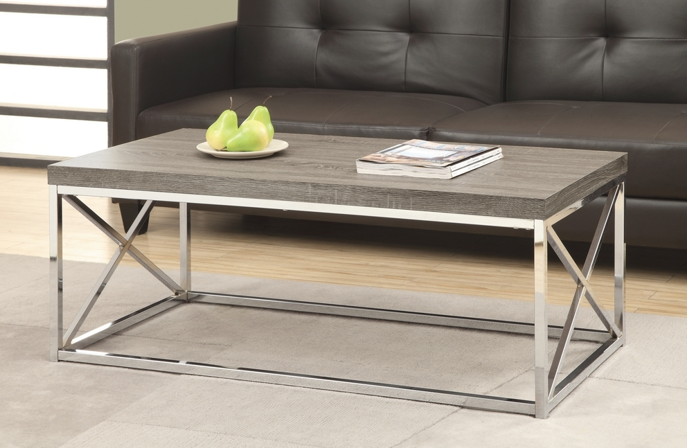 chrome and wood coffee table 18