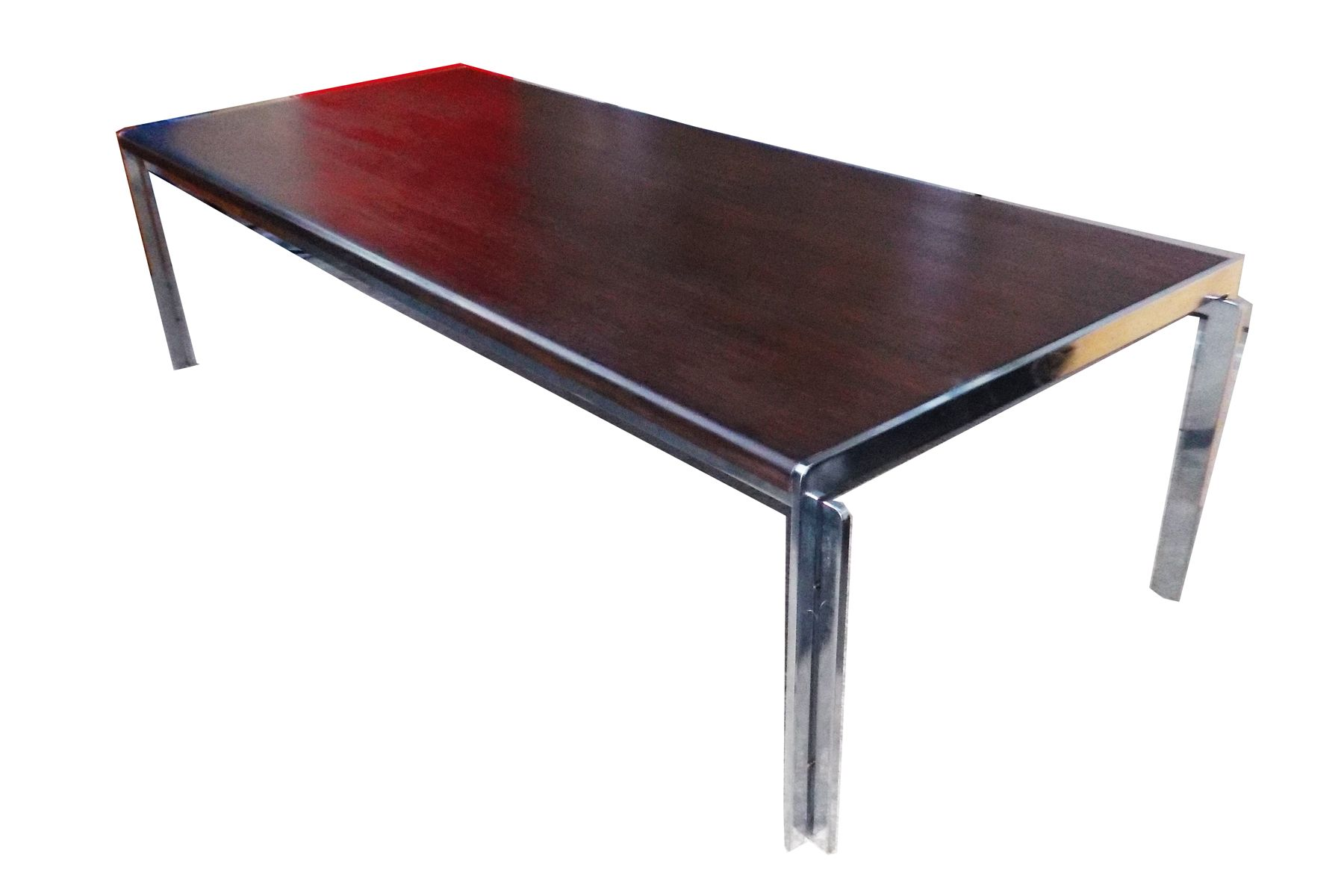 chrome and wood coffee table 21