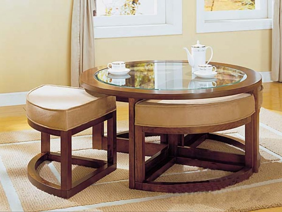 coffee table with chairs underneath 01