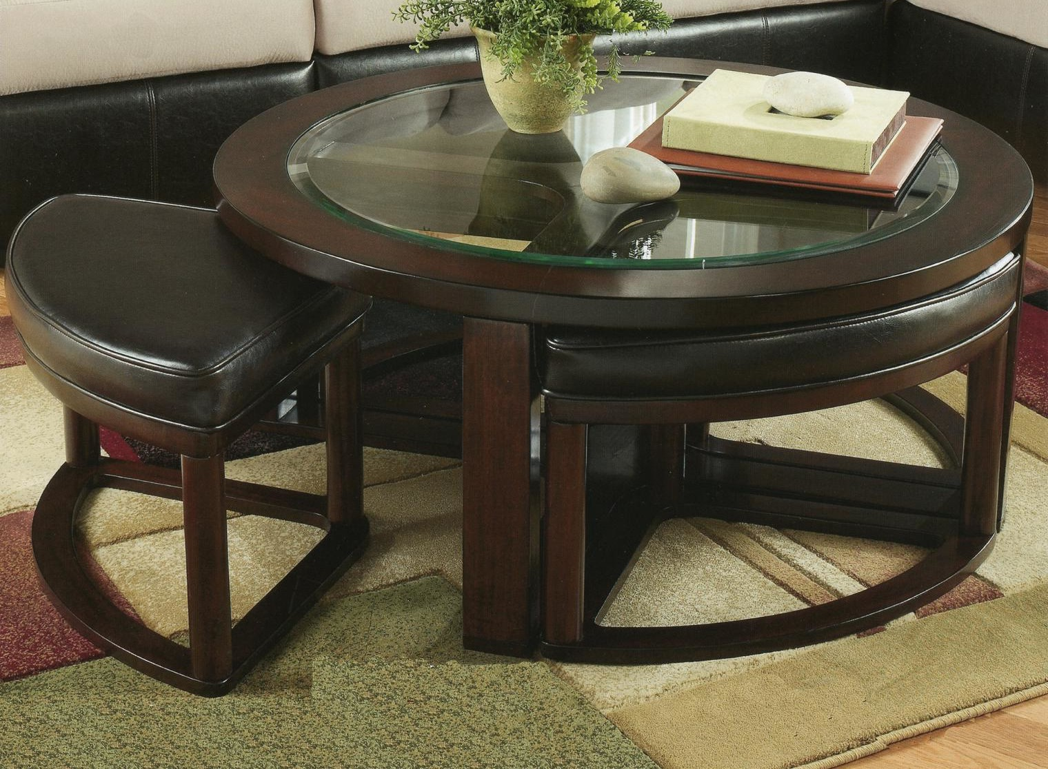 coffee table with chairs underneath roy home design. Black Bedroom Furniture Sets. Home Design Ideas
