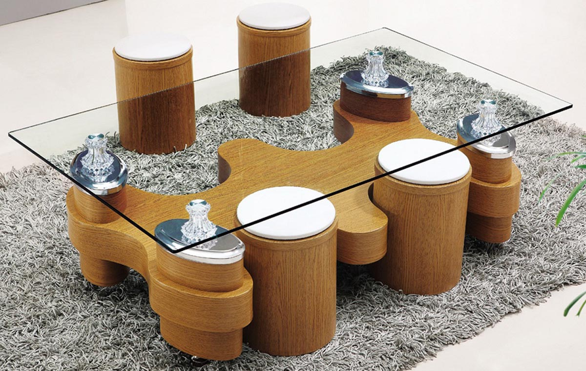 coffee table with chairs underneath 08