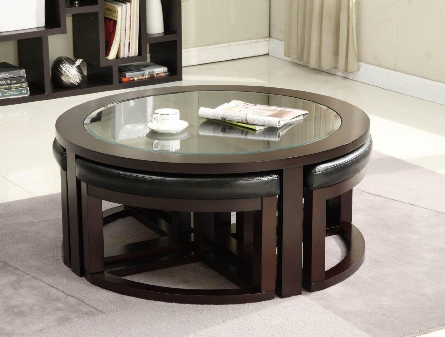 coffee table with chairs underneath 14