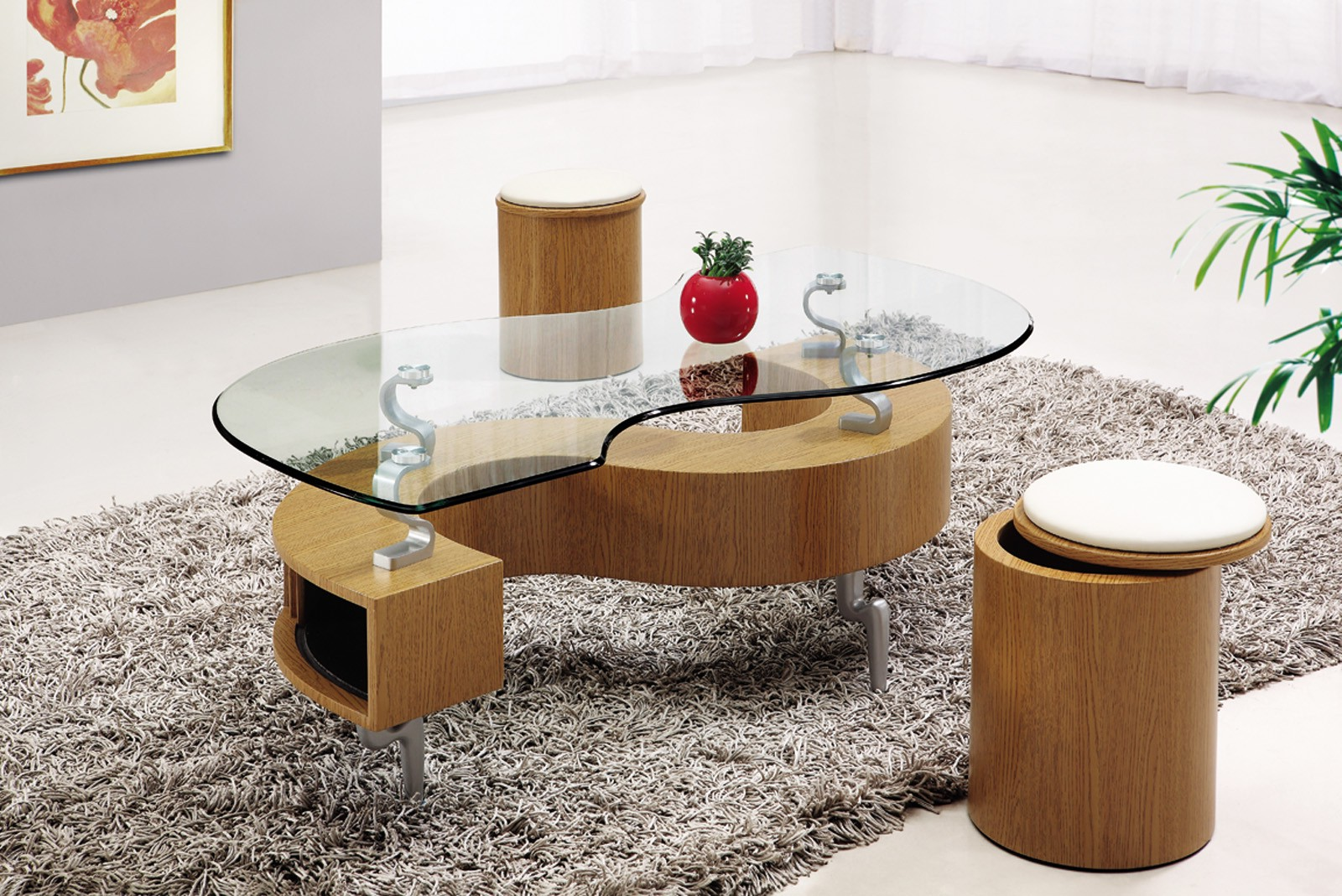coffee table with chairs underneath 15