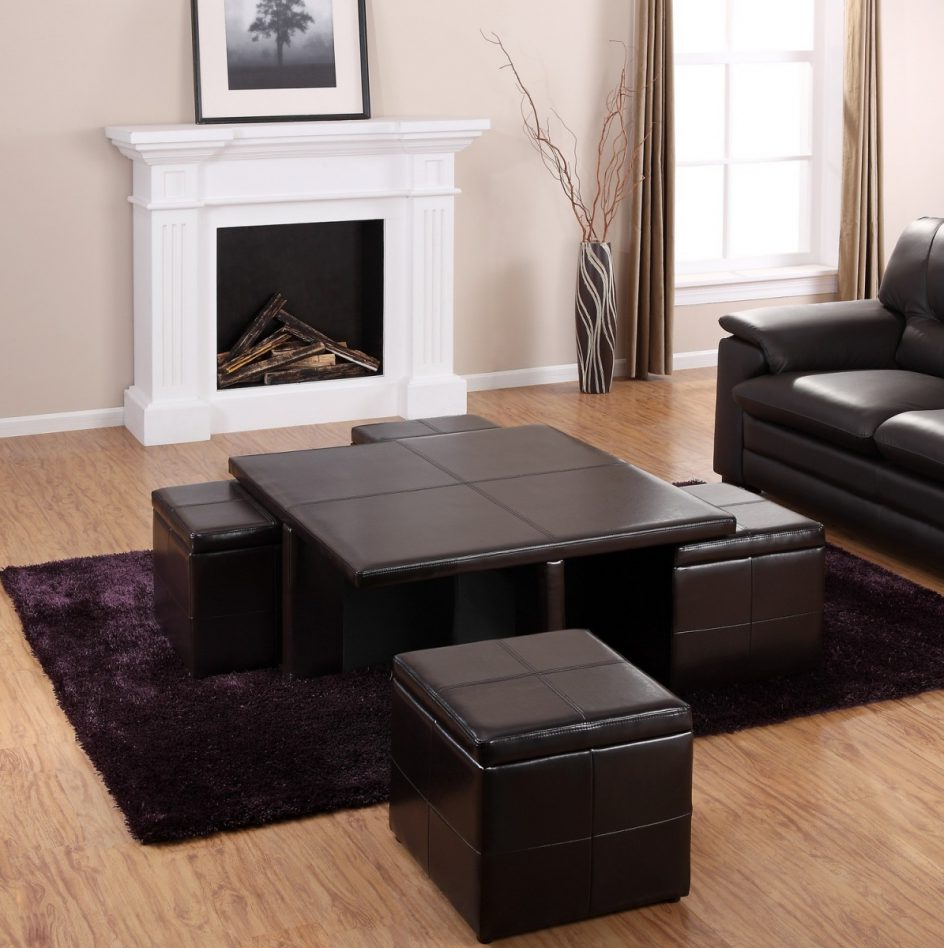 coffee table with pull out ottomans 04