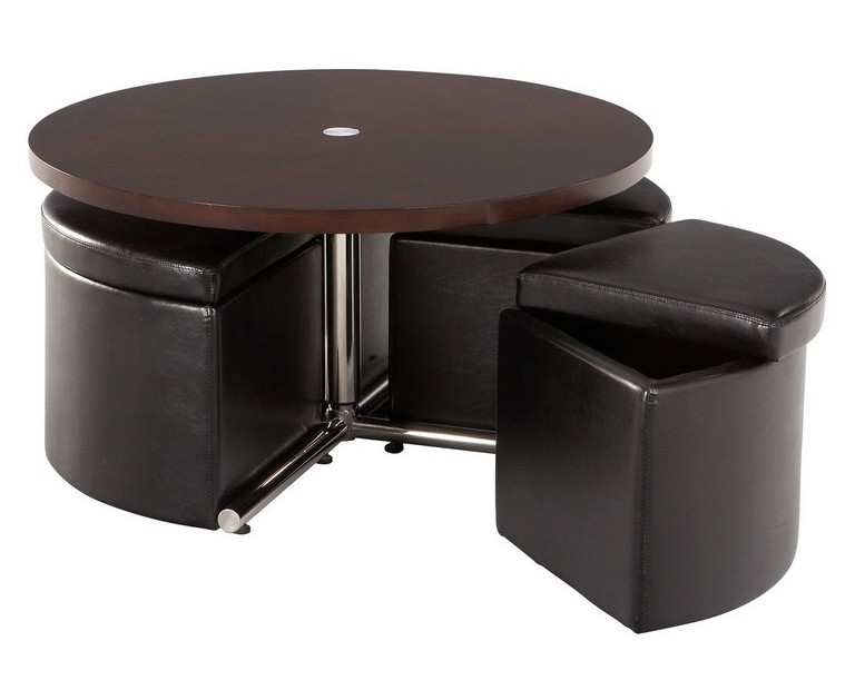 coffee table with pull out ottomans 13