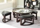 coffee table with pull out ottomans 16