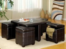 coffee table with pull out ottomans 19