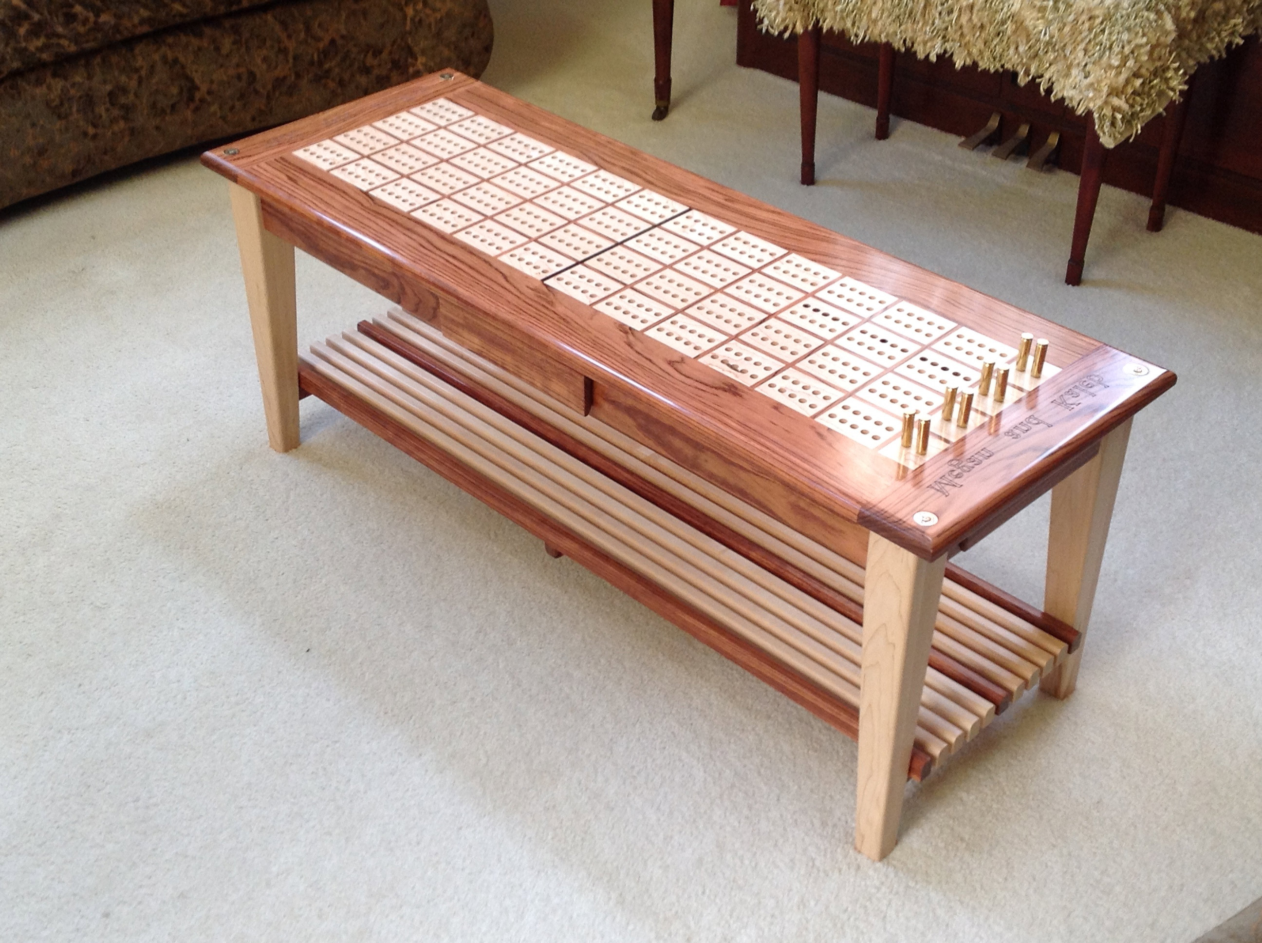 cribbage board coffee table 10