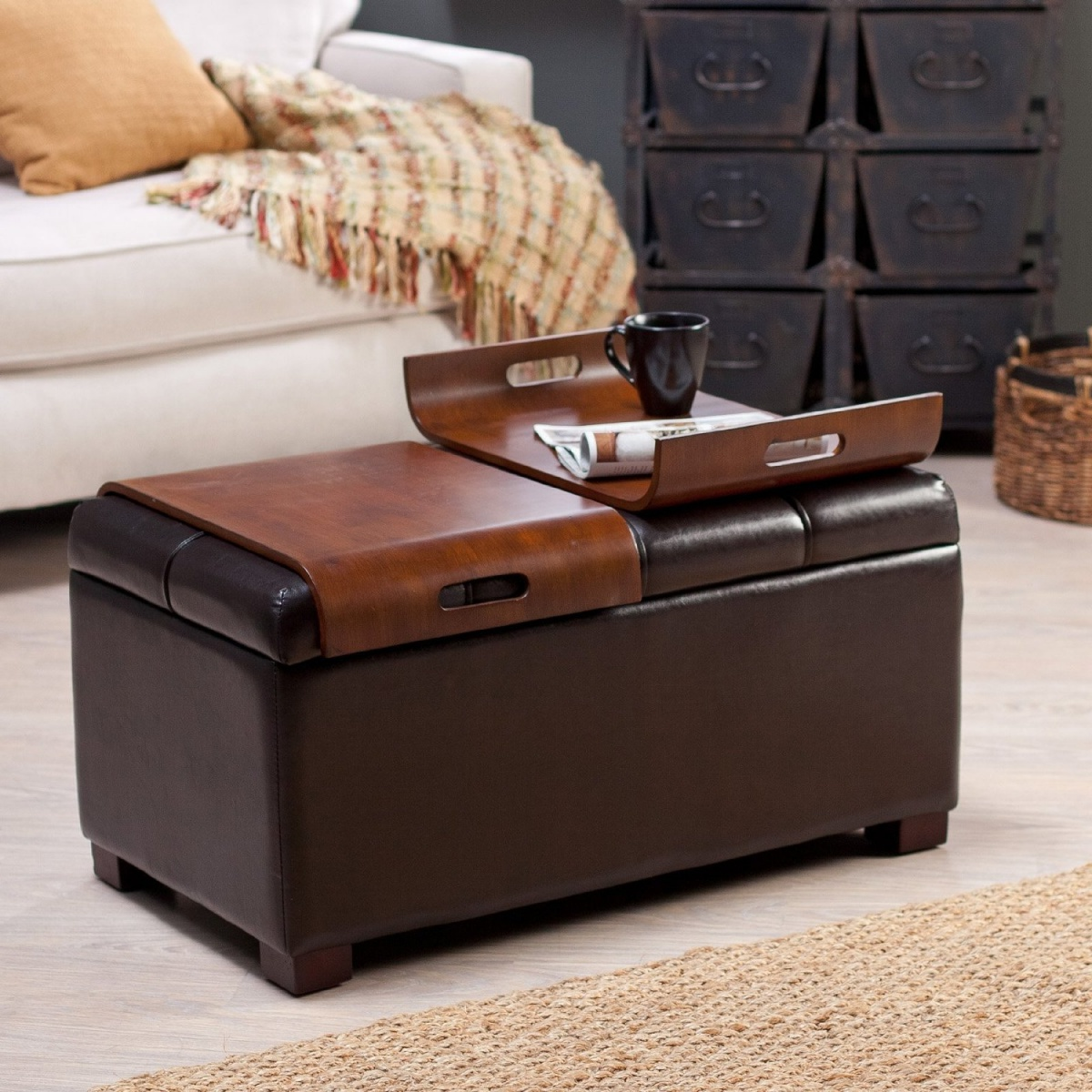 cushion coffee table with storage 12