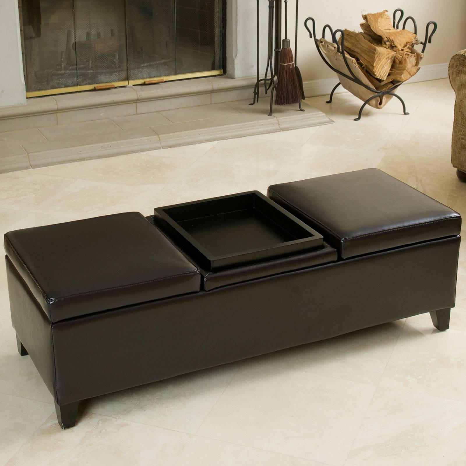 cushion coffee table with storage 14
