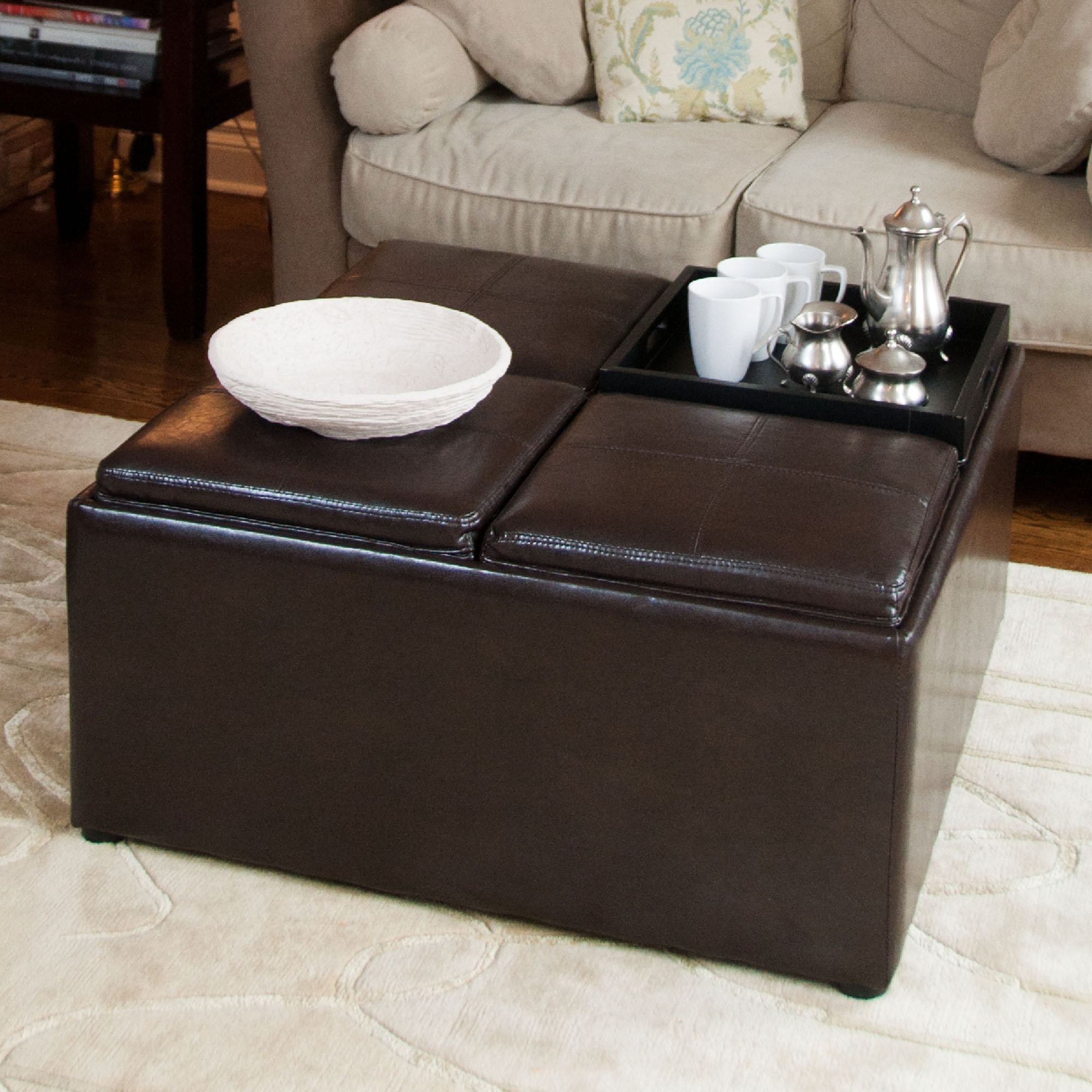 cushion coffee table with storage 16