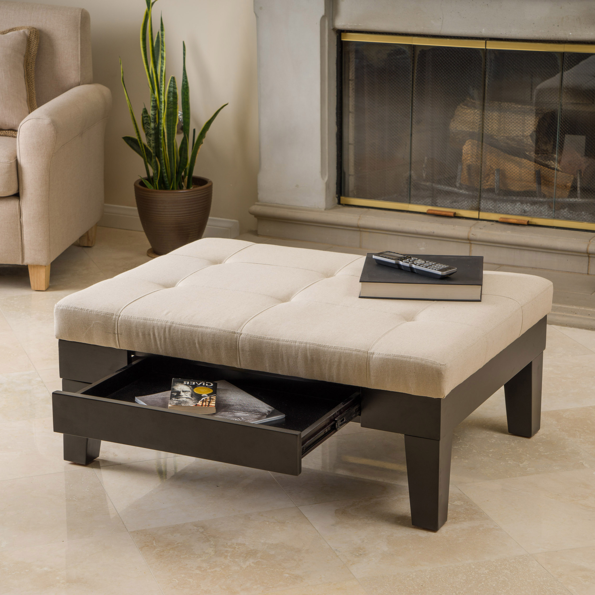 External Home Design Interior: Cushion Coffee Table With Storage Furniture