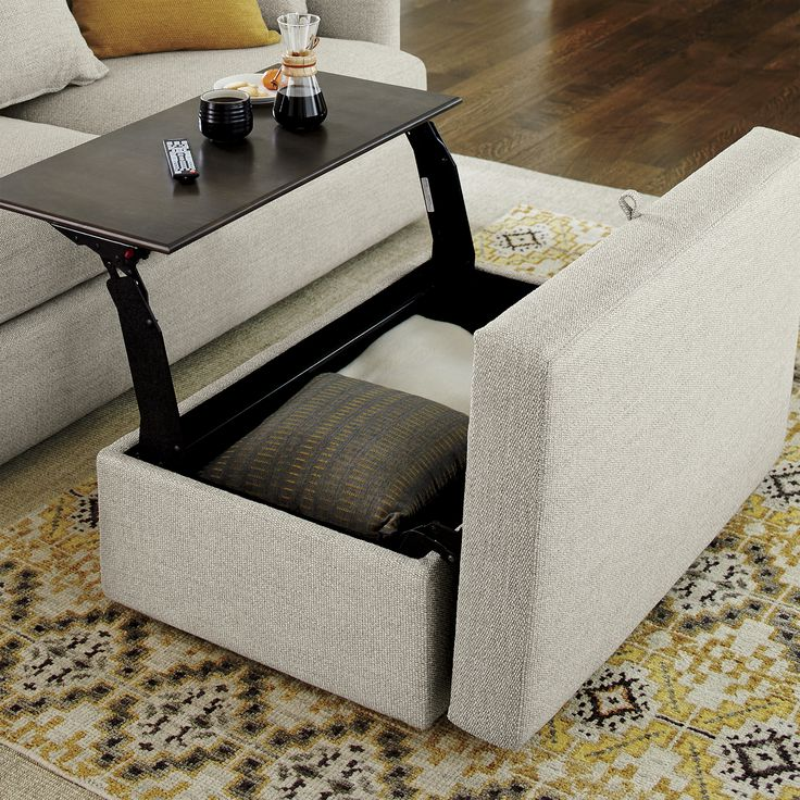 Cushion Coffee Table With Storage Furniture Roy Home Design