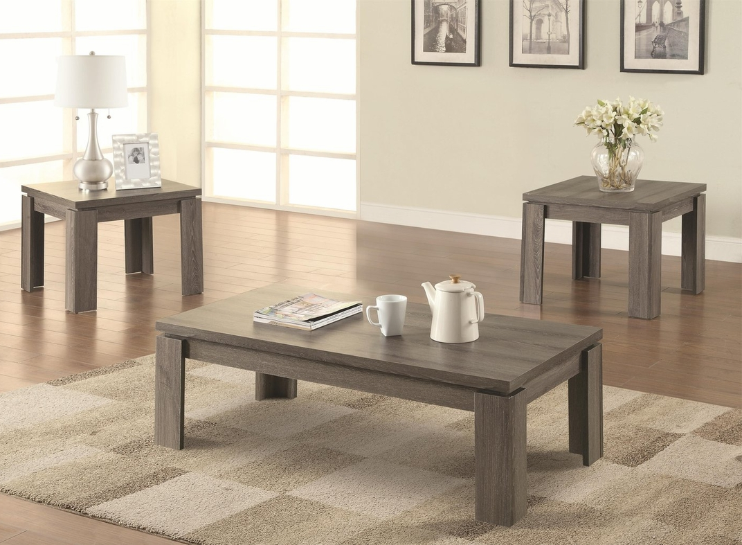 dark wood coffee table set furnitures