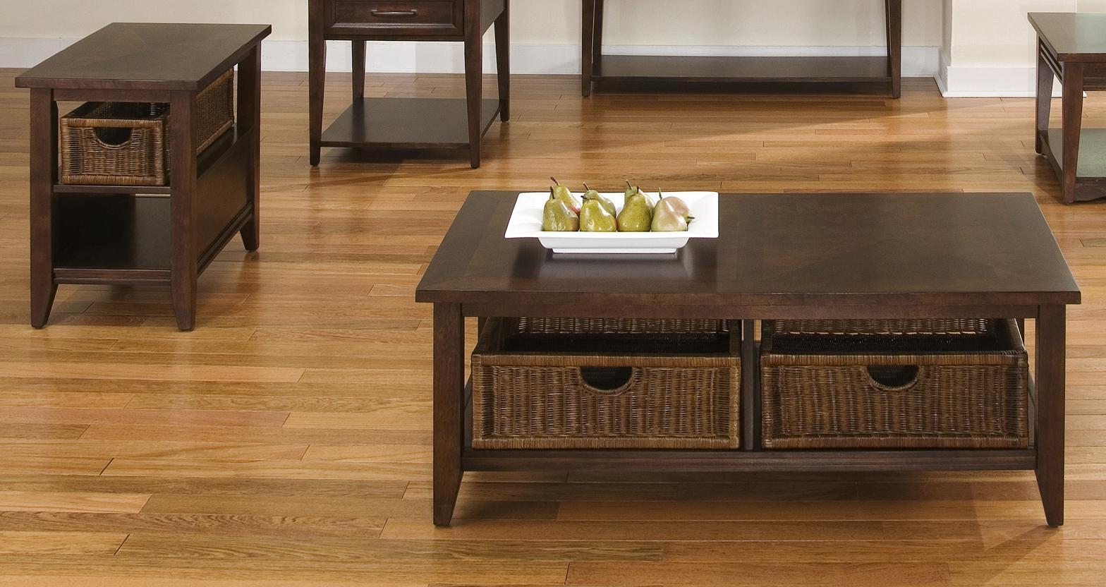 dark wood coffee table set 03