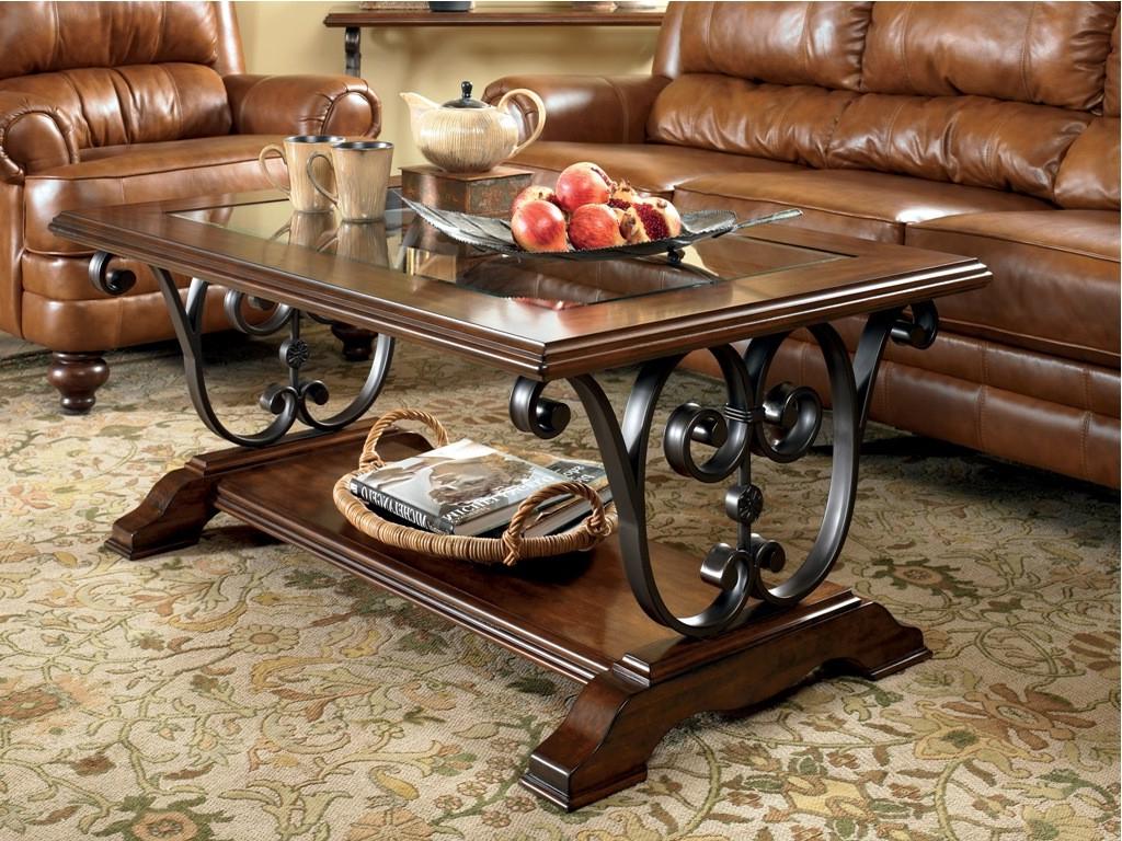 dark wood coffee table set 05