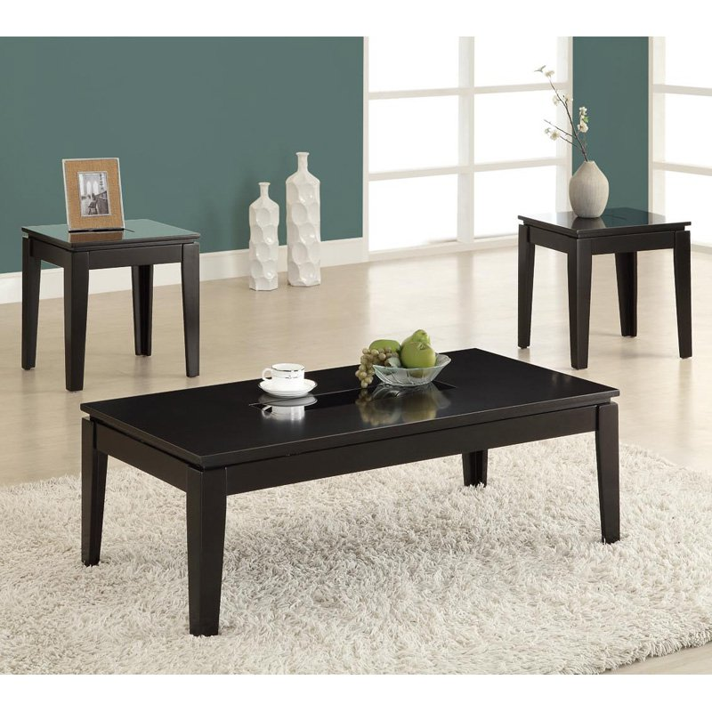 Dark Wooden Coffee Table ~ Dark wood coffee table set furnitures roy home design