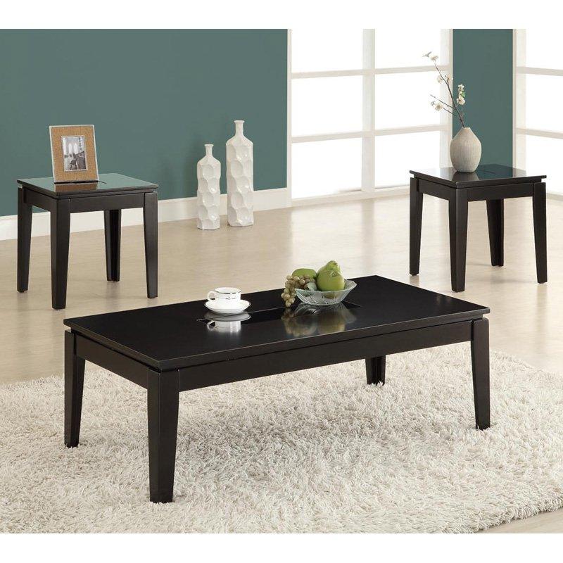 dark wood coffee table set 08