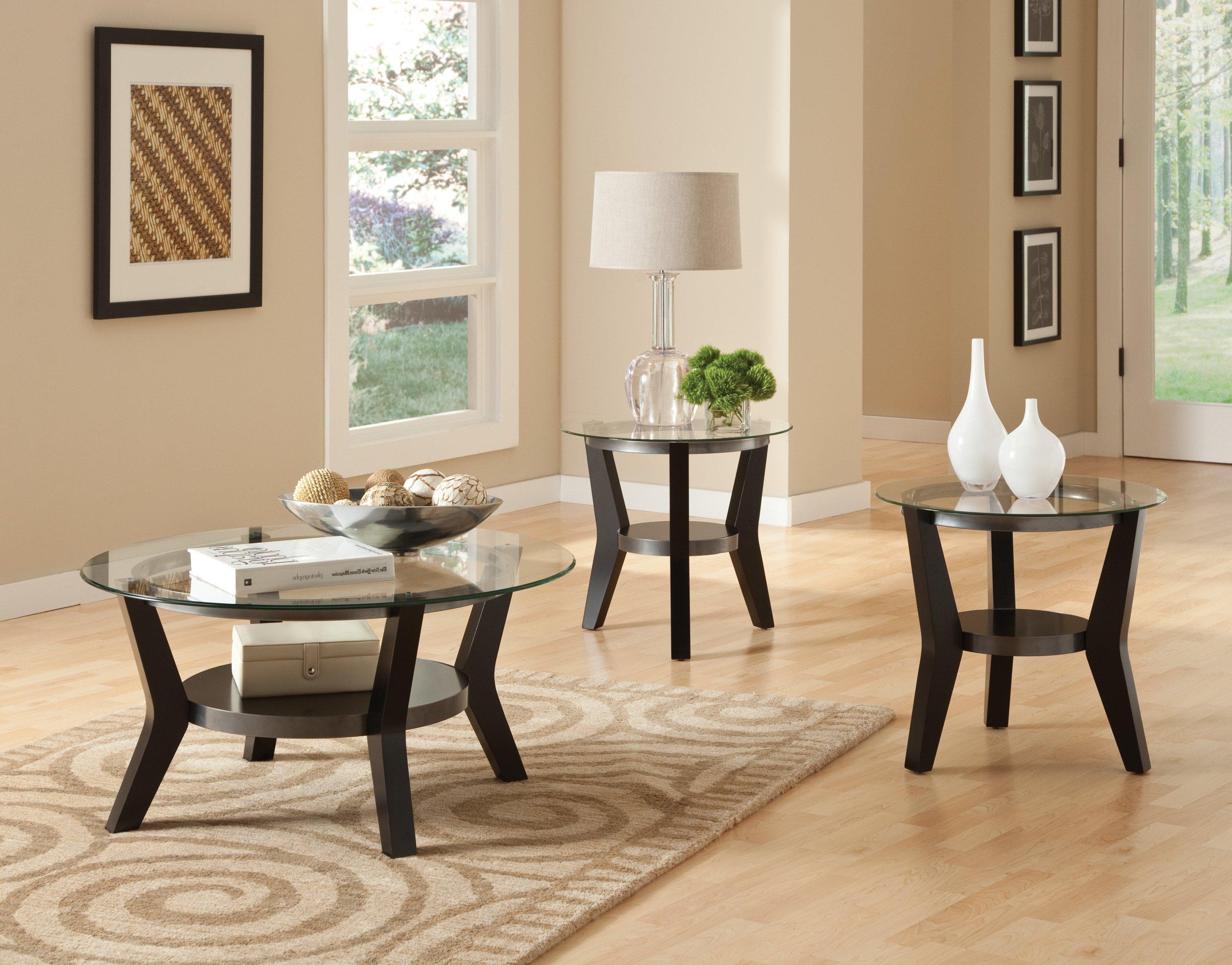 dark wood coffee table set 10