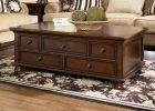 dark wood coffee table set 13
