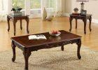 dark wood coffee table set 15