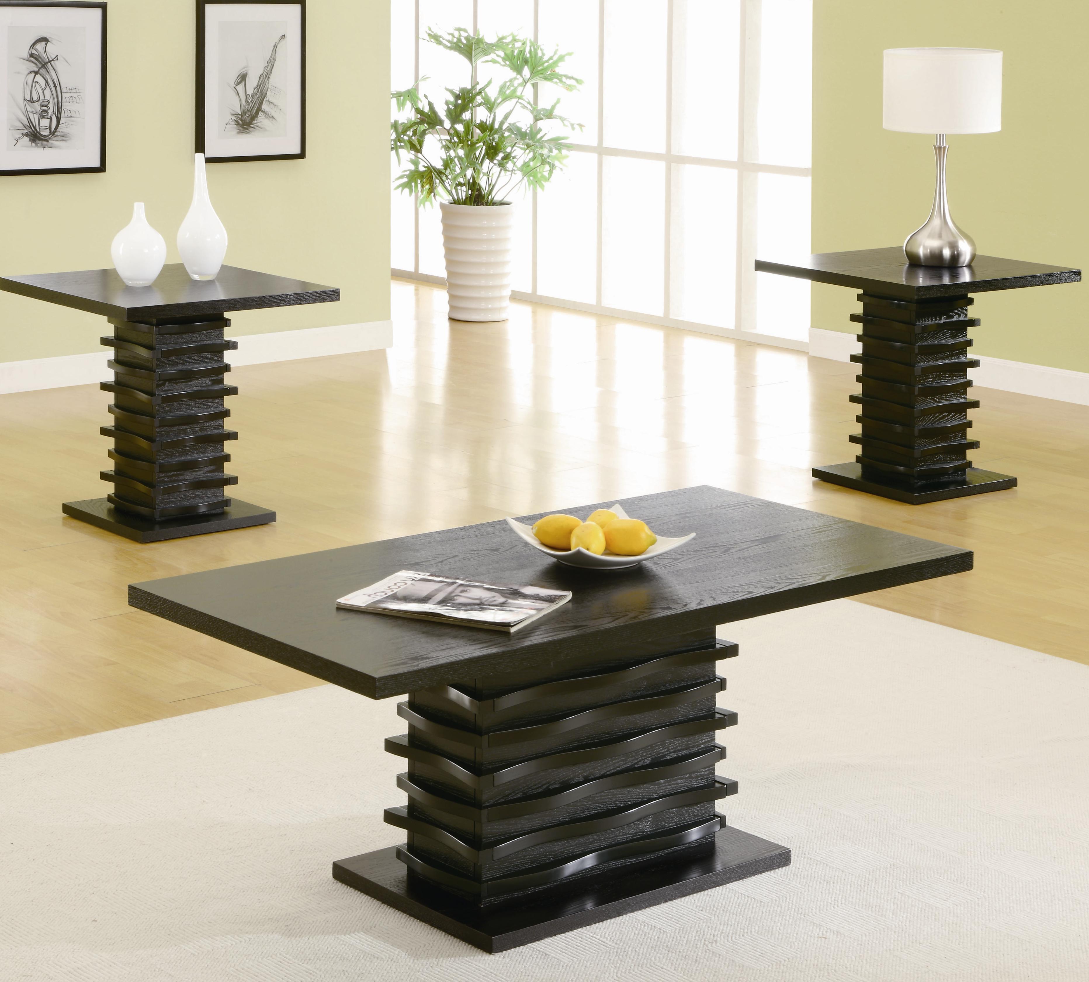 dark wood coffee table set 17
