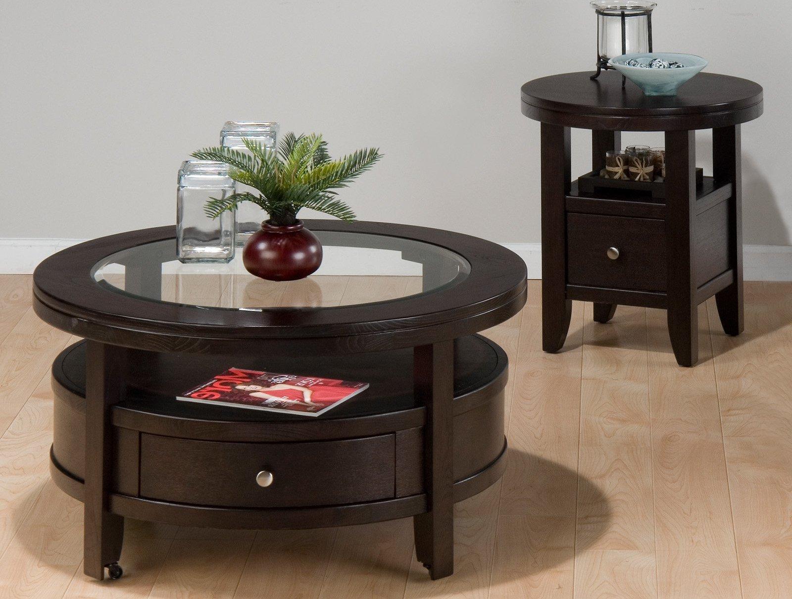 dark wood coffee table set 20