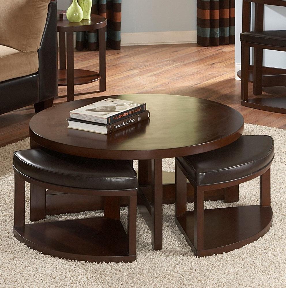 dark wood coffee table set 21