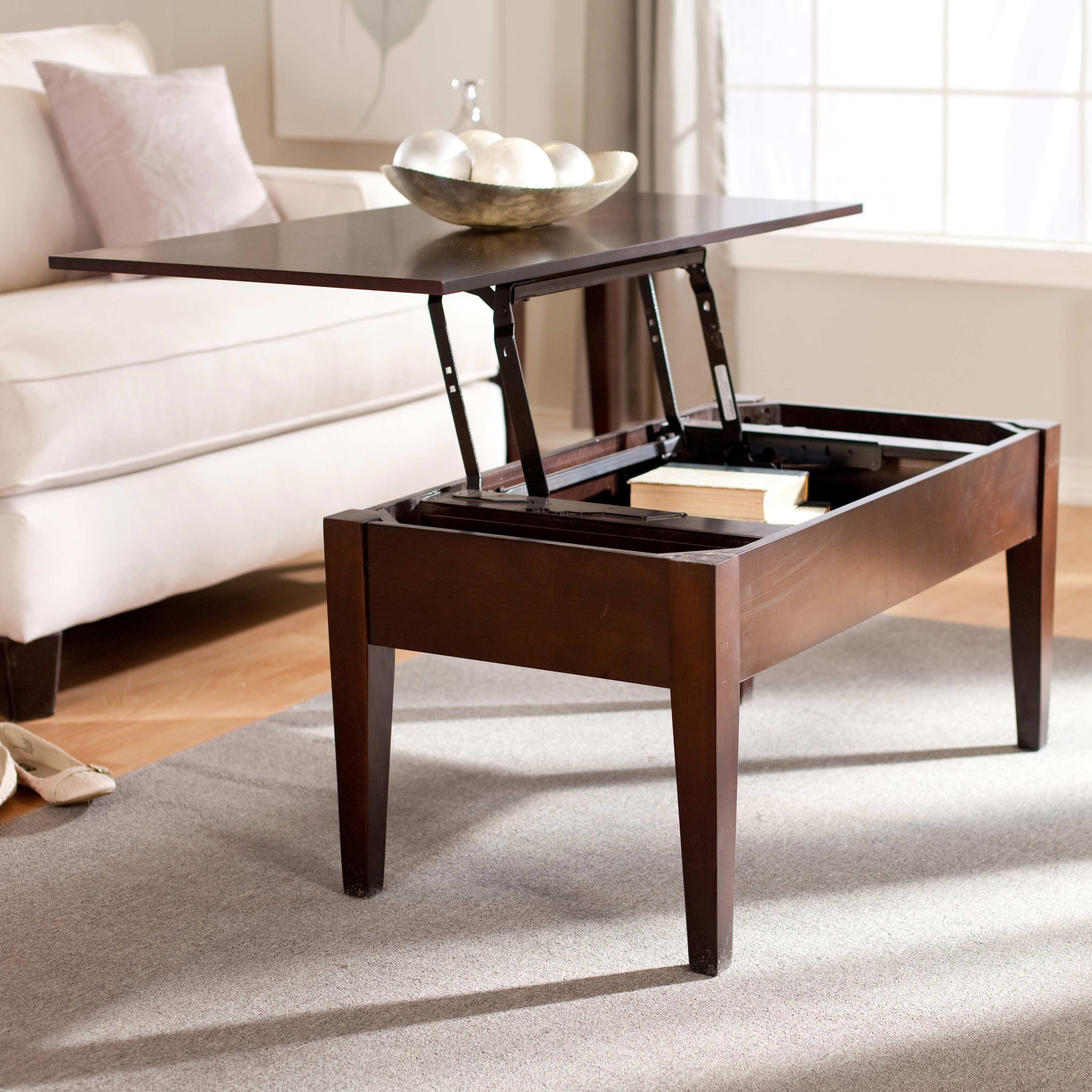 dark wood coffee table set 23