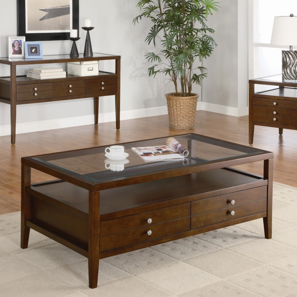 glass coffee tables under $200 with storage