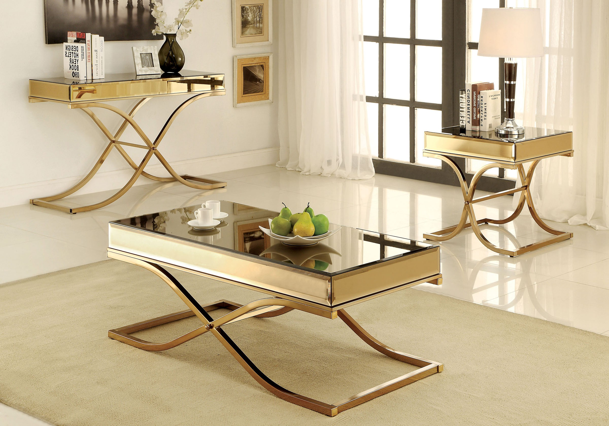 mirrored coffee table set 02