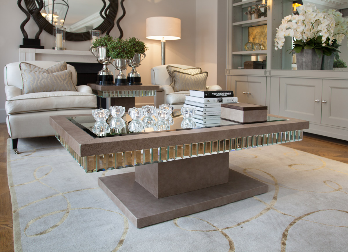 mirrored coffee table set 04