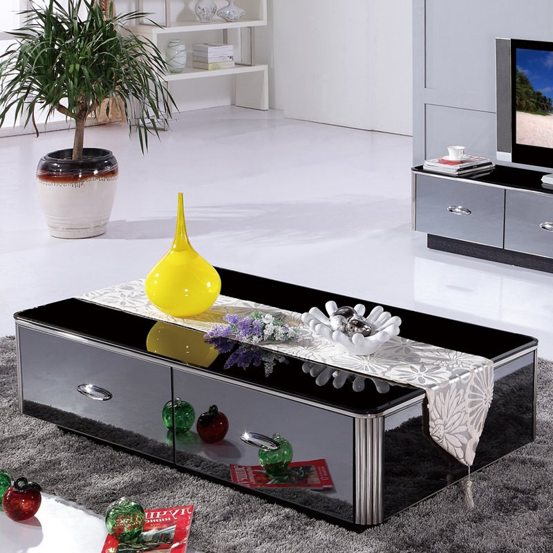 mirrored coffee table set 05