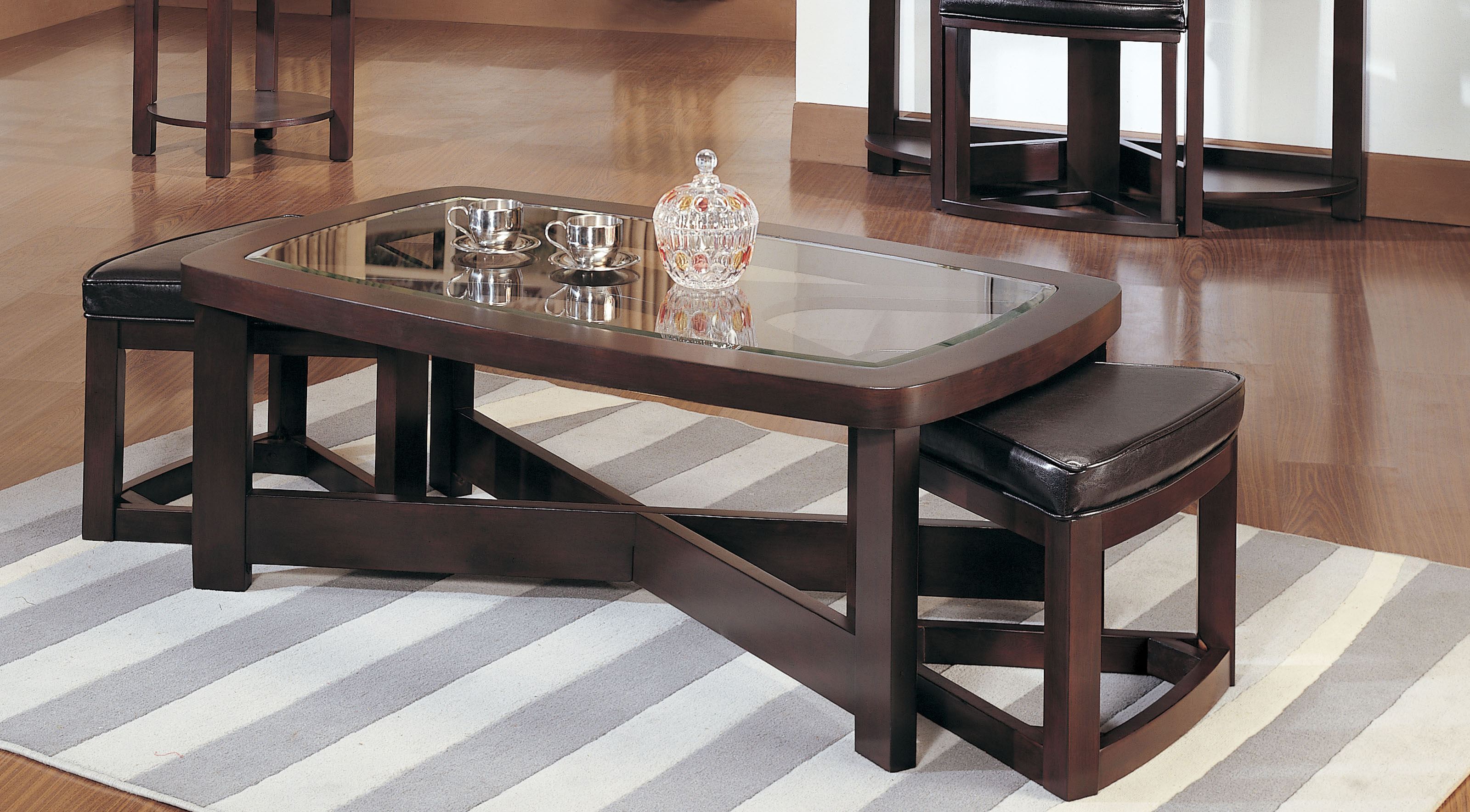 mirrored coffee table set 06