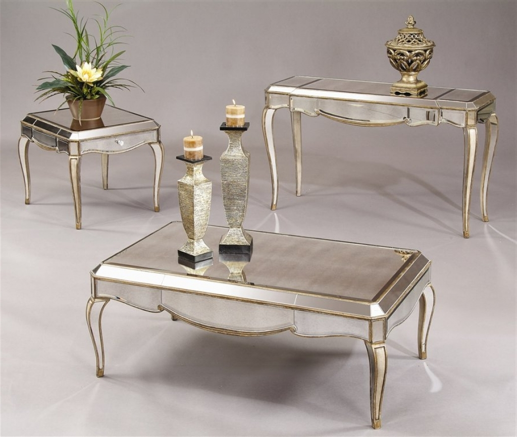 mirrored coffee table set 10