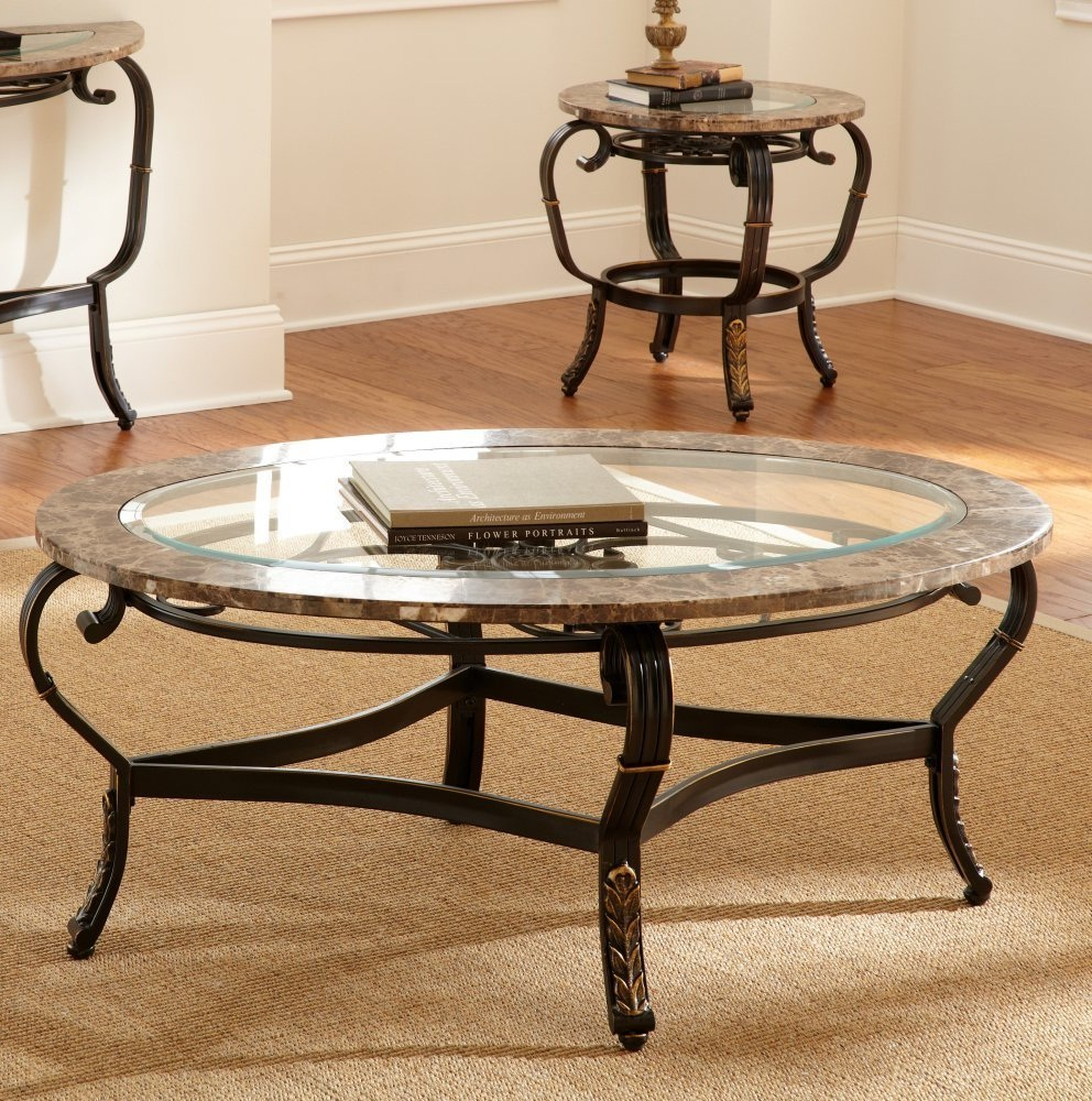 mirrored coffee table set 12