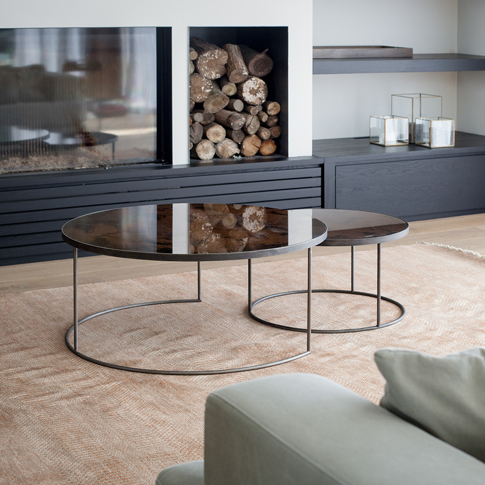 mirrored coffee table set 15