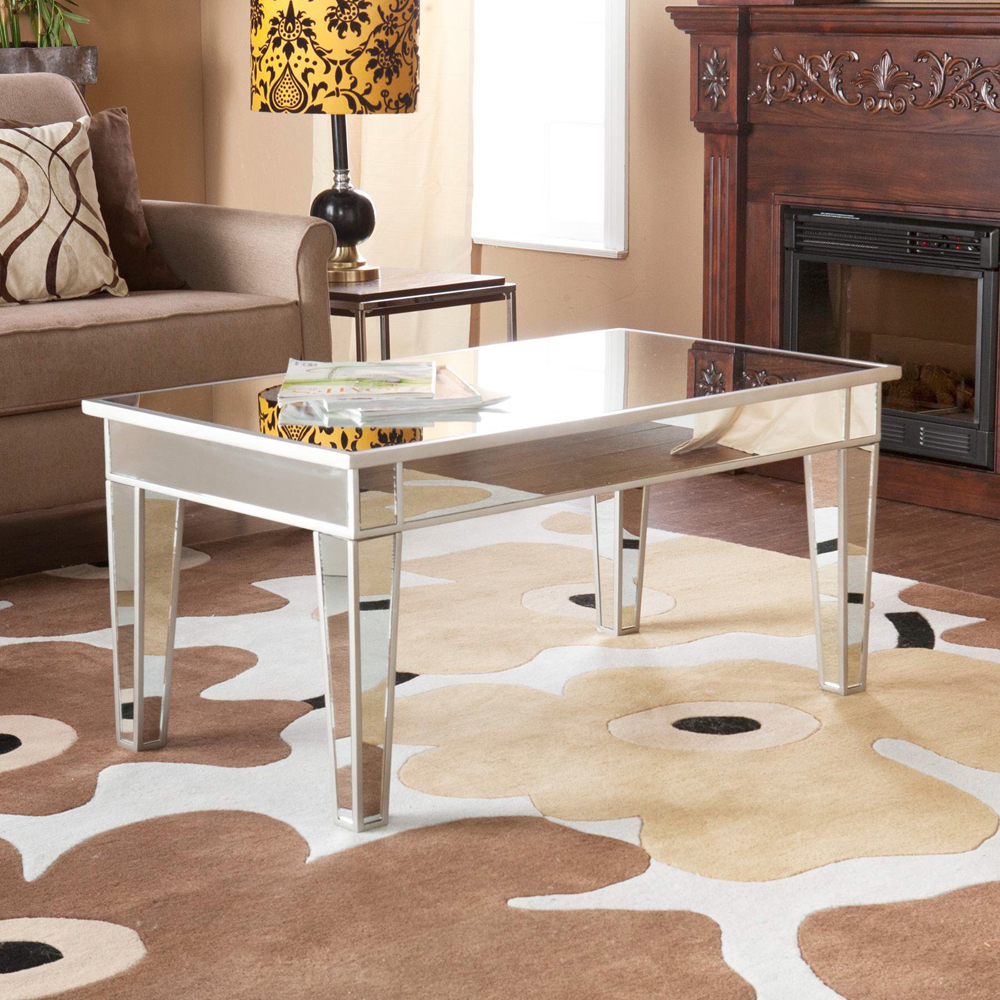 mirrored coffee table set 18
