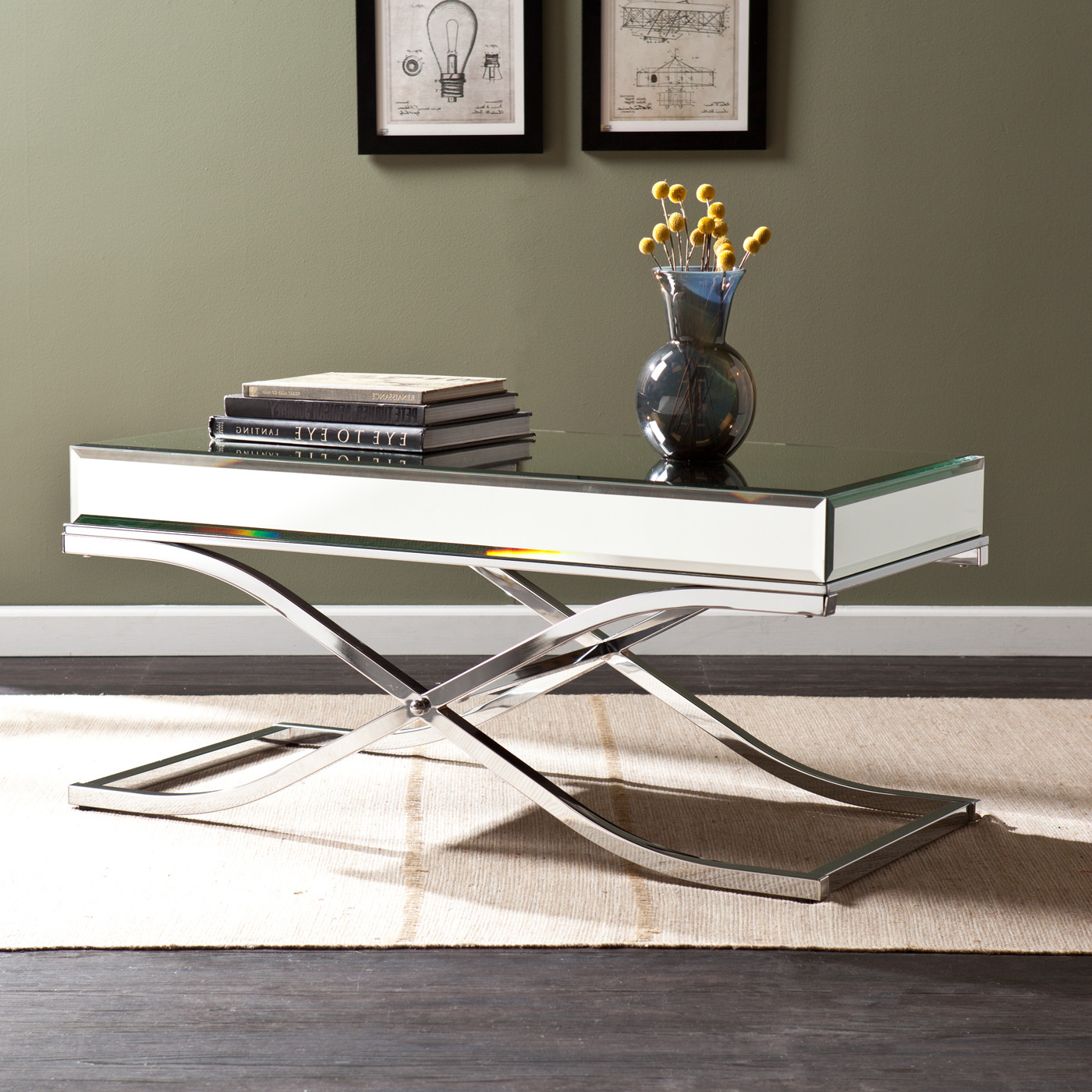 mirrored coffee table set 20