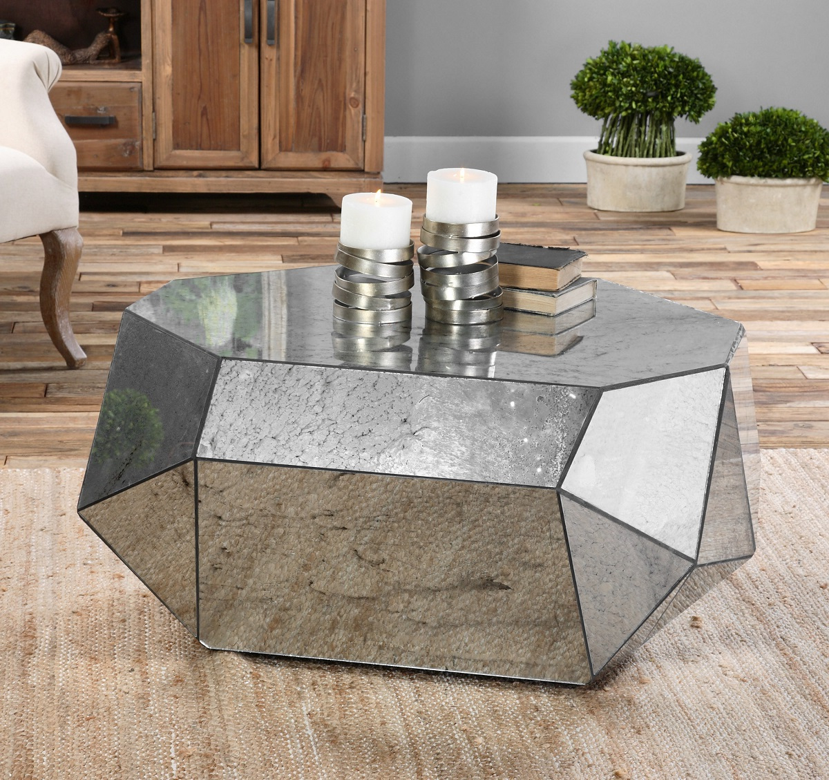 mirrored coffee table tray 11