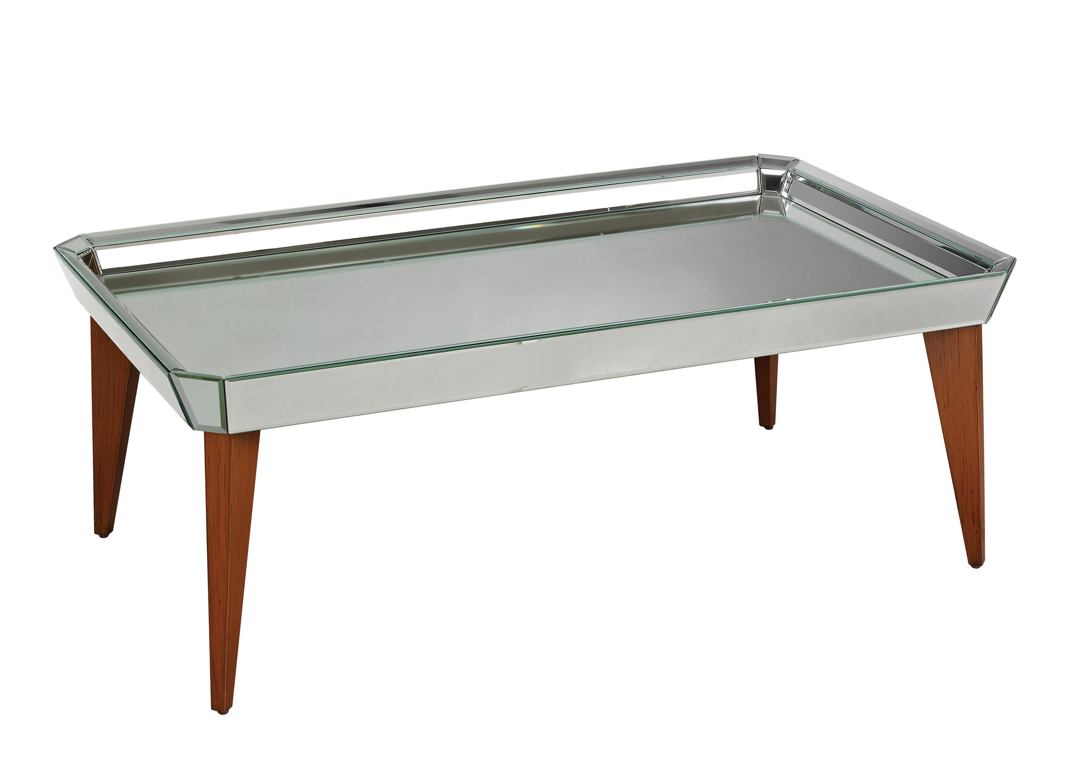 Mirrored coffee table tray roy home design Ottoman coffee table trays