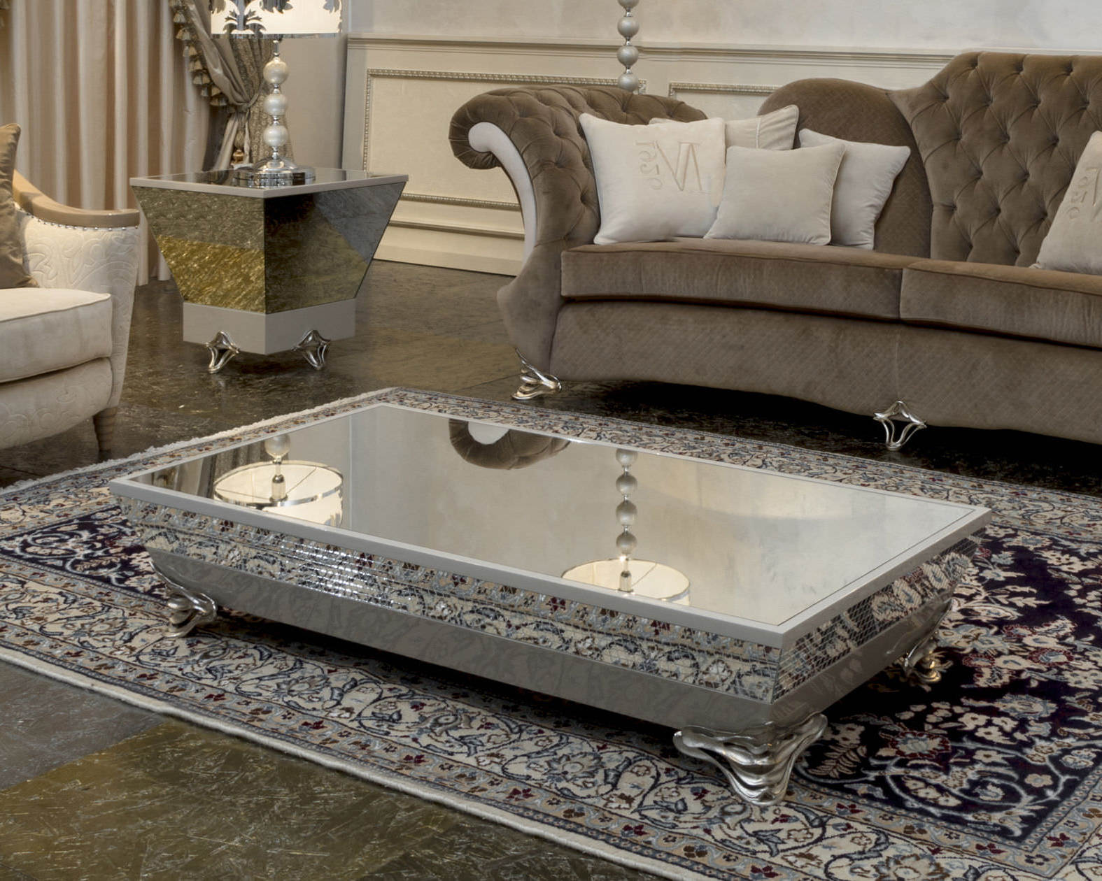 mirrored coffee table tray 20