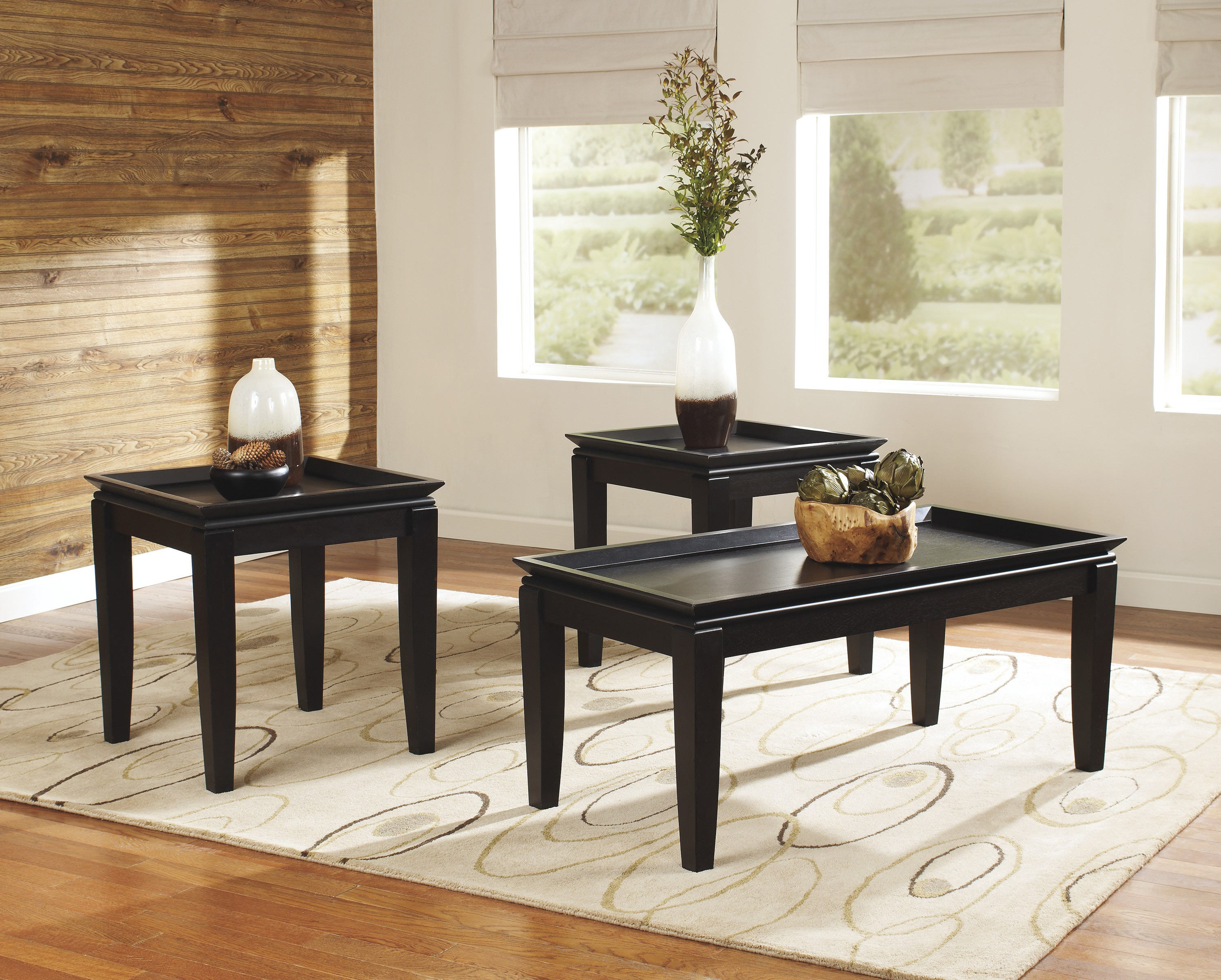 modern black glass coffee tables under $200