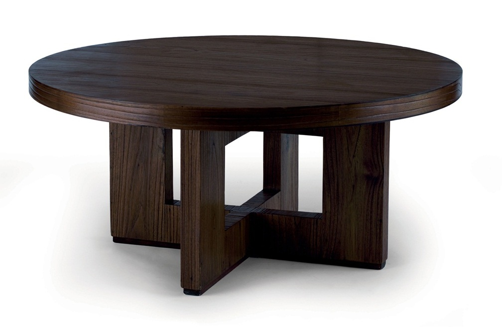 modern black round coffee tables under $200