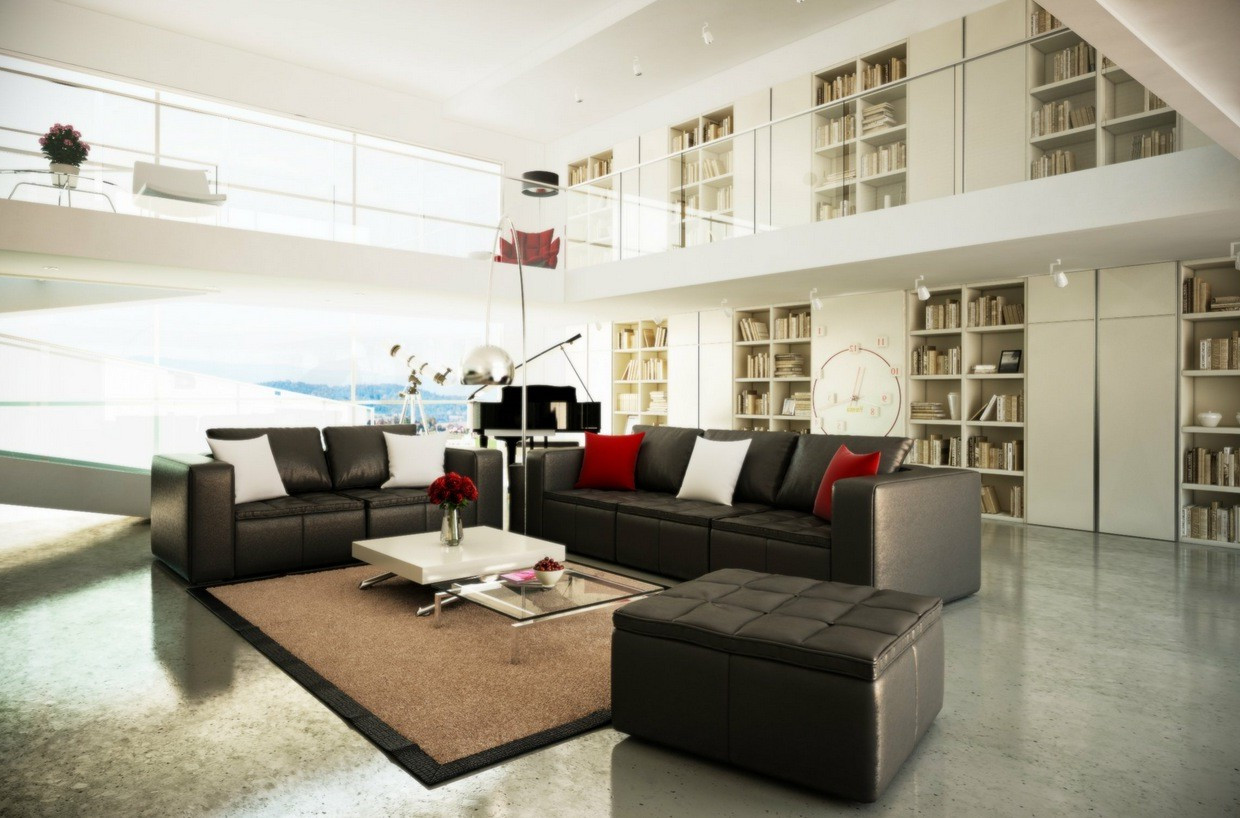 modern interior design with brown rugs living rooms decorating ideas