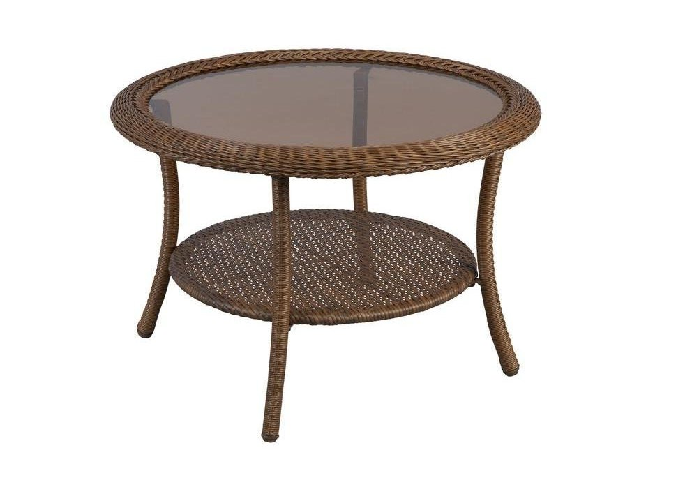 modern round glass coffee tables under $200