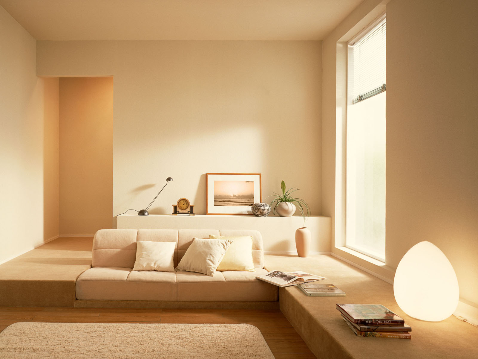 modern white interior design with modern low sectional sofa living rooms decorating ideas