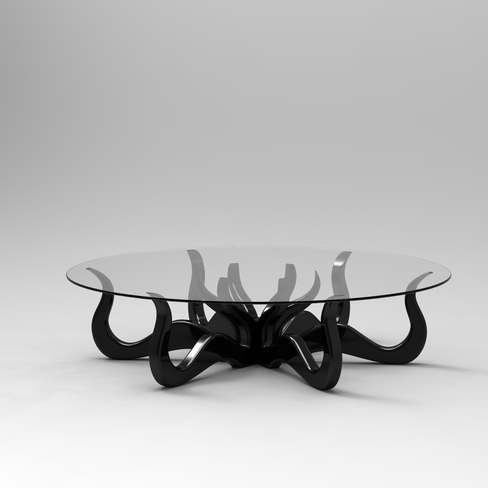 Octopus Coffee Table with Detailed Sculpture Roy Home Design