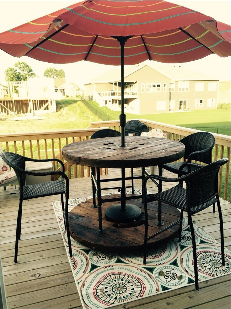 outdoor coffee table with umbrella hole 15