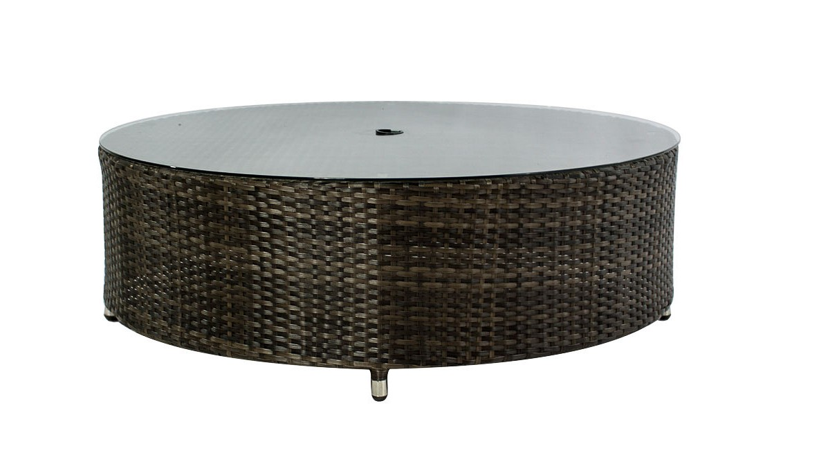 Outdoor Coffee Table With Umbrella Hole Design Roy Home